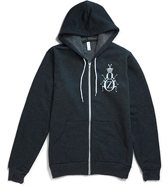 ZYZZYVA Zip Hoodie in Charcoal Gray