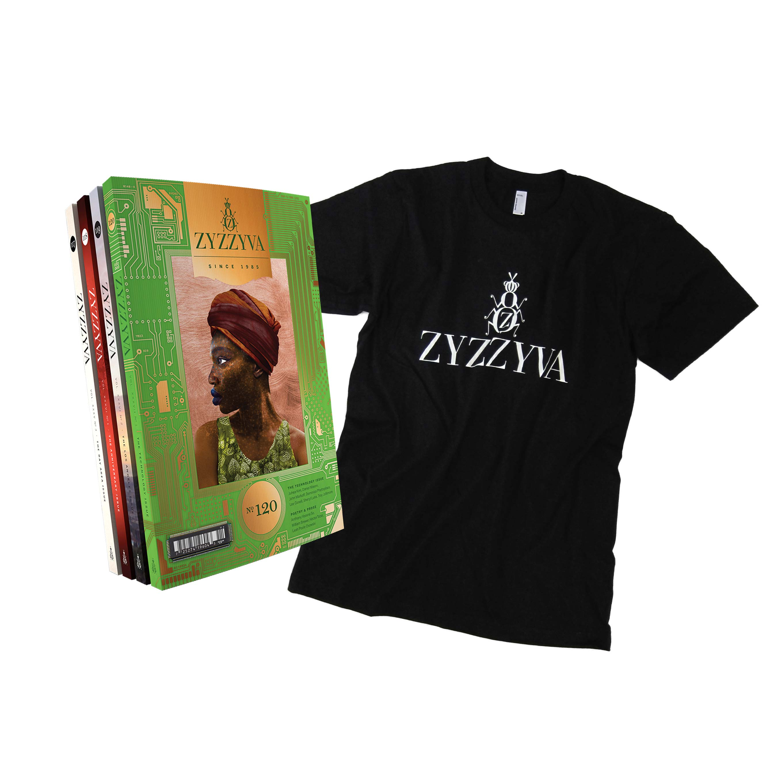 ZYZZYVA T-shirt and subscription bundle