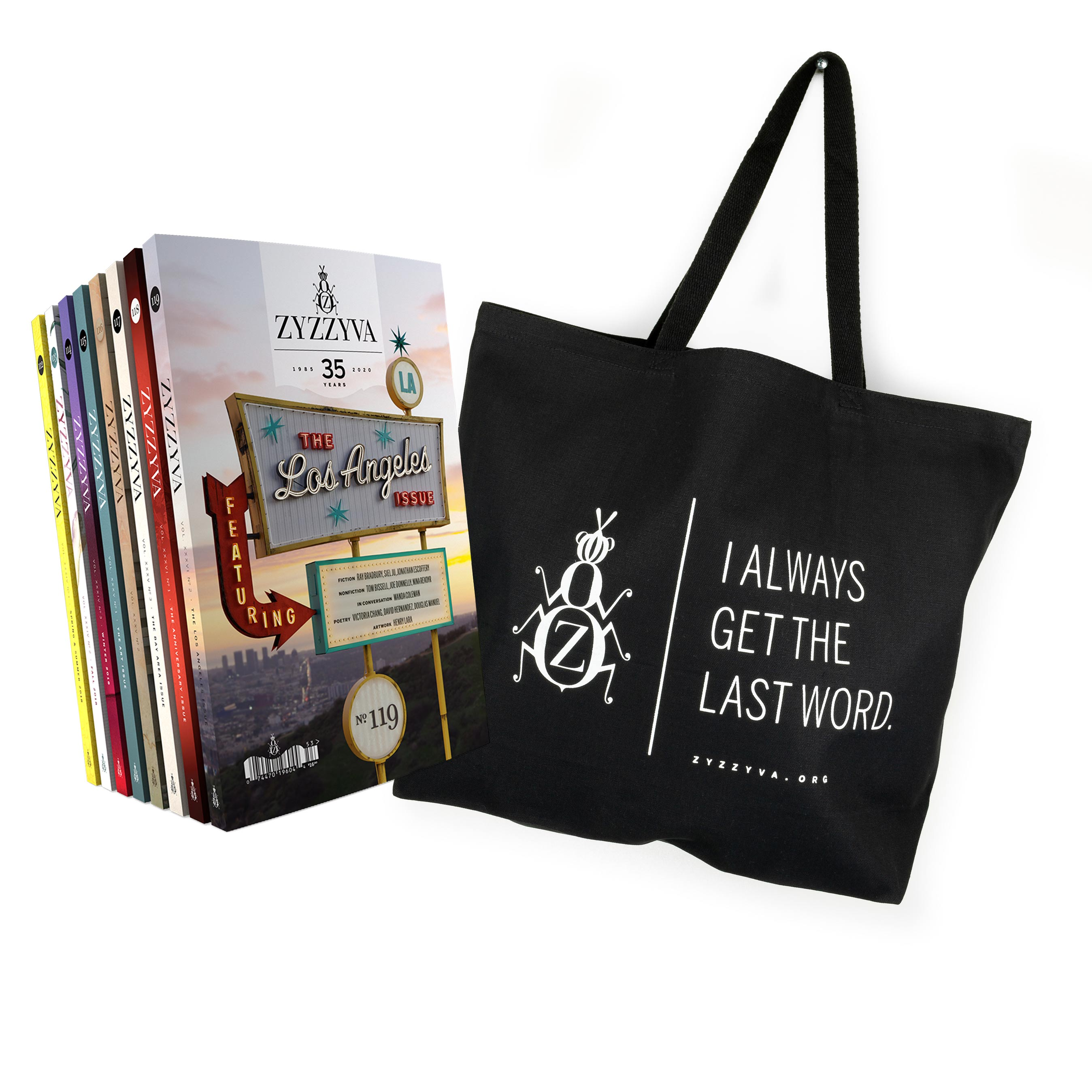 ZYZZYVA Tote Bag and 8-Issue Subscription Bundle