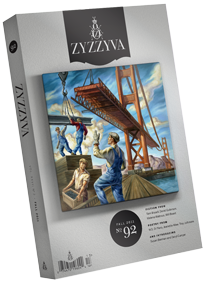 <p>Here&#8217;s what&#8217;s in the Fall 2011 issue of ZYZZYVA: Award-winning authors and promising new writers; full color art work from <strong>Owen Smith</strong>, <strong>Katy Grannan</strong>, <strong>Sandow Birk</strong> and <strong>Julio Cesar Morales</strong>; forty more pages of the best fiction, poetry, nonfiction and art from West Coast artists and writers; elegantly redesigned journal featuring higher quality paper and French flaps</p>