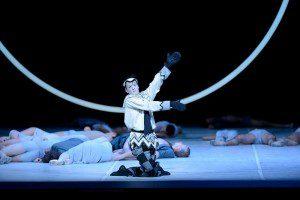 "Lloyd Riggins as Nijinsky dancing as Petrouchka in John Neumeier's ""Nijinsky"" (photo by Erik Tomasson)"