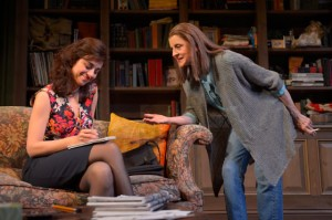 "Marjan Neshat (left) and Concetta Tomei in the Berkeley Rep's ""Fallaci"" (photo by kevinberne.com)"