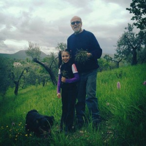 Riccardo Duranti at his family farm in the hills of Sabina, Italy.