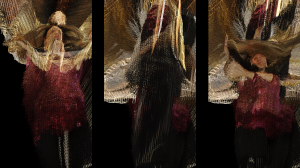 """Lisa Banks's """"Suspended Motion Series 1: Triptych 1"""" (2014), digital composite"""
