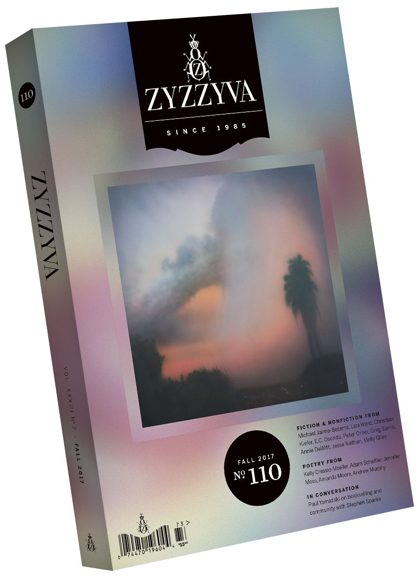 ZYZZYVA Volume 33, #2, Fall 2017