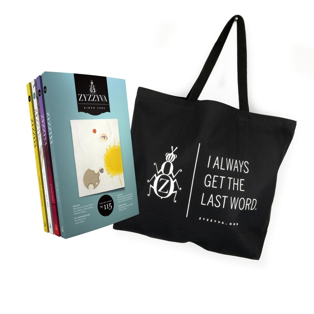 ZYZZYVA Tote Bag and 4-Issue Subscription Bundle