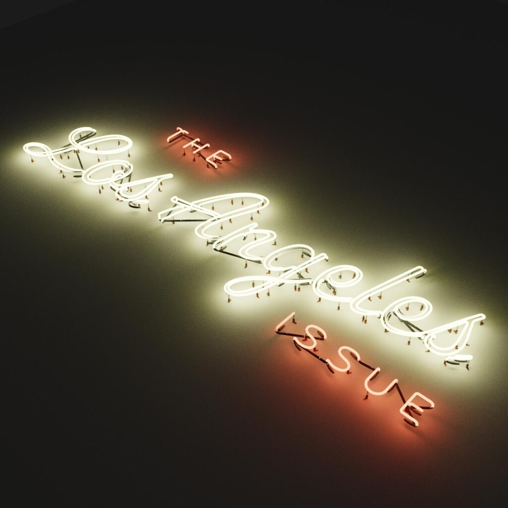 The Los Angeles Issue: 3D neon test render