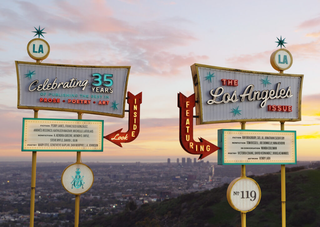 No. 119: semi-final 3D render of The Los Angeles Issue sign